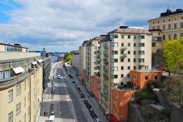 Stockholm, Sodermalm. Katarinavaggen street