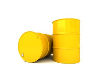 Two oil barrels 3D render