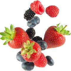 falling berries