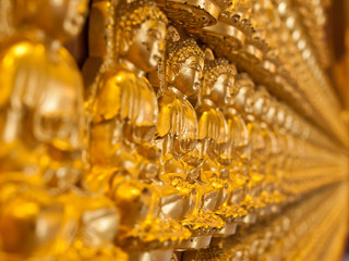 buddha statue rows