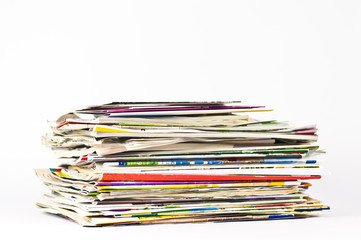 Journals Magazines & cards to recycle