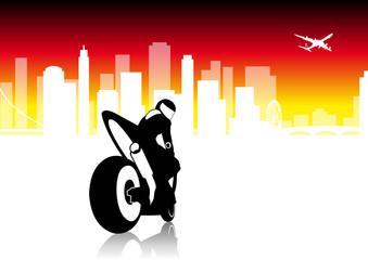 Fototapete - Moto GP - city vector pack