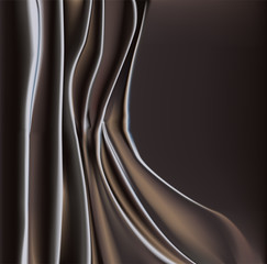 Black fabric with folds