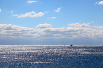Foto op Aluminium Zee / Oceaan Crimea. The ships on sea horizon