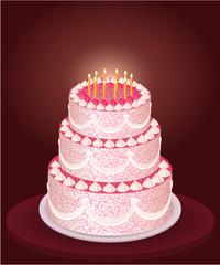 Festive cake illustration