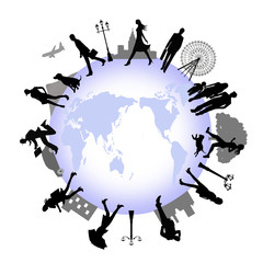 People on the earth, vector image