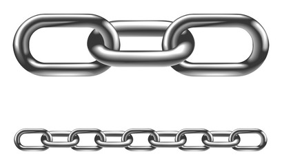 Metal chain links illustration