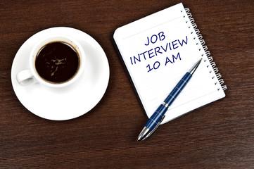 Job interview message