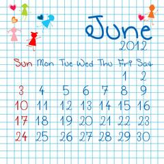 Calendar for June 2012