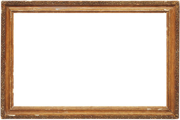photo of old frame for a picture, isolated
