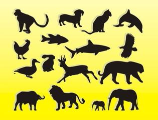 illustration silhouette vector animal