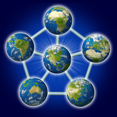 Global networking symbol