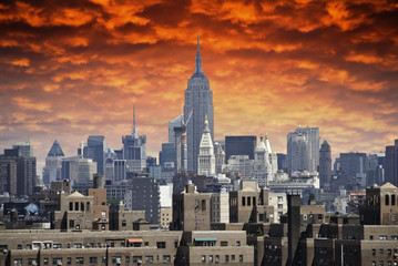Wall Mural - Storm approaching New York City