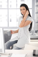 Attractive office girl