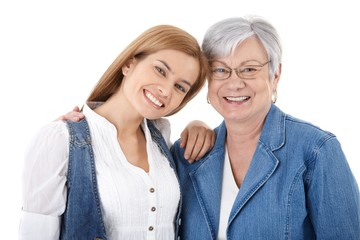 Portrait of happy woman and mother