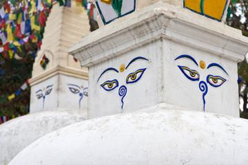 Stupas at Swayambhunath, Kathmandu