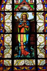 vitraux de l'église d'Angerville