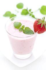 frischer Erdbeershake