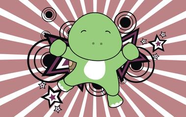 turtle baby jump cartoon background