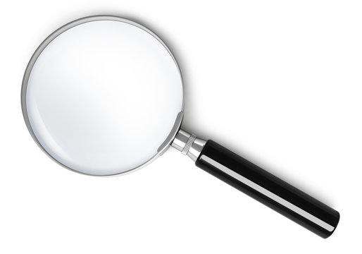 Magnifying glass - top view