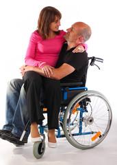 Rollstuhl Paar schoss