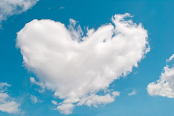 cloud in the heart of the blue sky
