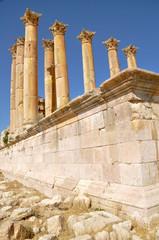 Templo en las ruinas de Jerash