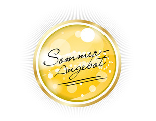 Sommer Aktion Angebot Button