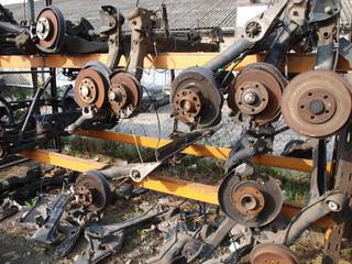 Axles On A Rack
