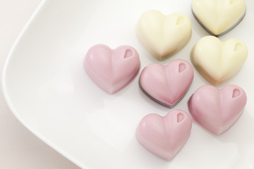 Handmade heart chocolate