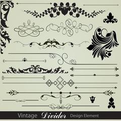 Vintage Vector Designs Divider Illustrations