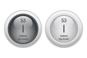 Iodine - two glossy web buttons