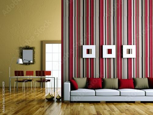 Wohndesign sofa vor streifenwand stockfotos und for Wohndesign a r braunschweig