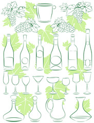 Collection of wine design