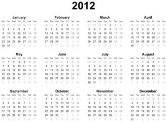 Calendar 2012 (english)