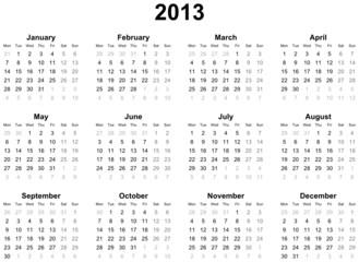Calendar 2013 (english)