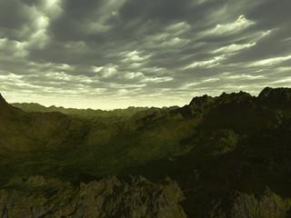 colinas verdosas