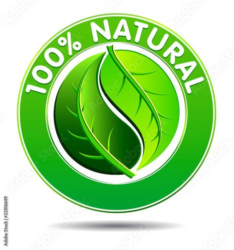 quot100 natural product symbolquot С�оковое изоб�ажение и