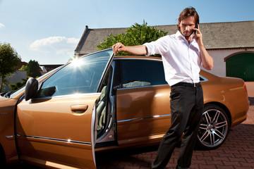 Fototapeta businessman talking obraz