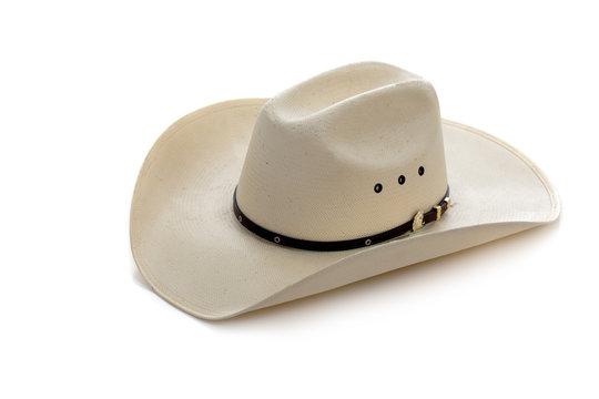 Cowboy hat on white
