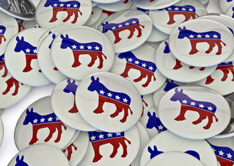 Democrat badges