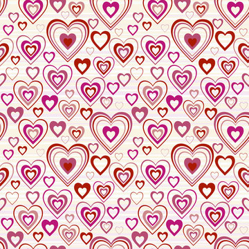 hearts seamless background