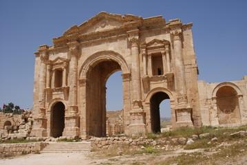 Hadriansbogen in Jerash, Jordanien