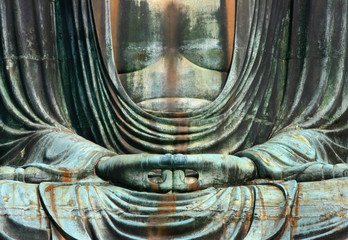 Hände eines Buddha Fototapete