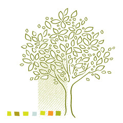 Tree icon - simple linear drawing