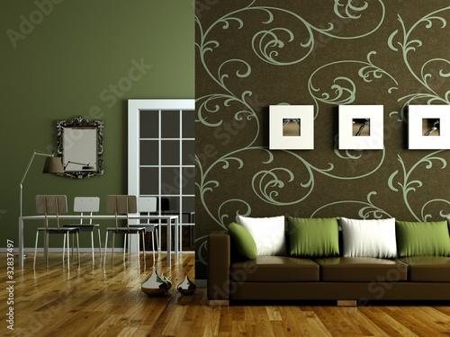 """wohndesign - grünes wohnzimmer"""" stockfotos und lizenzfreie bilder, Wohnzimmer ideen"""