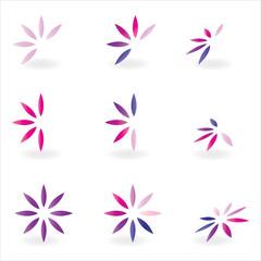 logo elements pink flower