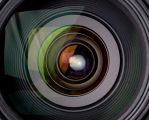 Camera lens with reflection