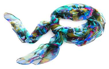 Fotobehang Gymnastiek Color neckerchief isolated on white background