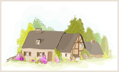 Vector illustration little  house.
